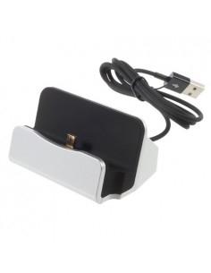 Univerzális Micro USB-s asztali töltő állvány - EZÜST
