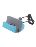 Univerzális Micro USB-s asztali töltő állvány - KÉK