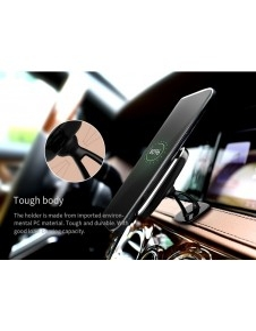 NILLKIN bárhová felragasztható mágneses vezeték nélküli autós töltő - FEKETE