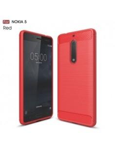 Nokia 5 karbon mintás tok - PIROS