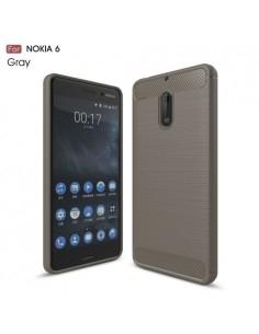 Nokia 6 karbon mintás tok - SZÜRKE