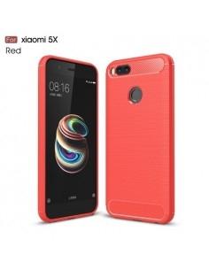 Xiaomi Mi A1 karbon mintás tok - PIROS