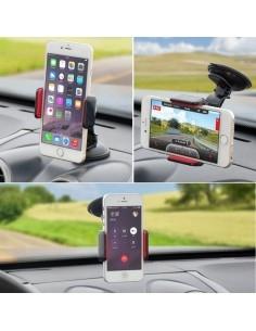 Univerzális 360 fokban forgatható szélvédőre rögzíthető telefon tartó 55-85 mm széles készülékekhez
