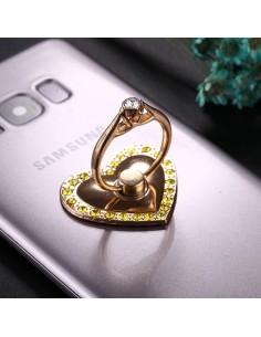 Szív formájú telefon gyűrű - ARANY SZÍNŰ