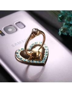 Szív formájú telefon gyűrű - KÉK