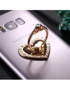 Szív formájú telefon gyűrű - FEHÉR