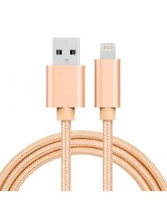 1 méteres USB kábel iPhone X/8/8 Plus/7/7 Plus/6/6s/6 Plus/6s Plus/iPad/5/5s/SE - ARANY SZÍNŰ