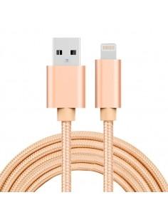 2 méteres USB kábel iPhone X/8/8 Plus/7/7 Plus/6/6s/6 Plus/6s Plus/iPad/5/5s/SE - ARANY