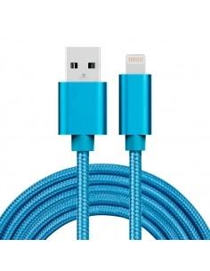2 méteres USB kábel iPhone X/8/8 Plus/7/7 Plus/6/6s/6 Plus/6s Plus/iPad/5/5s/SE - KÉK