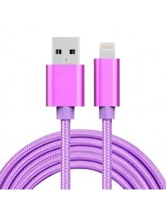 2 méteres USB kábel iPhone X/8/8 Plus/7/7 Plus/6/6s/6 Plus/6s Plus/iPad/5/5s/SE - LILA