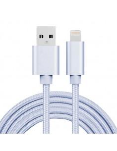 2 méteres USB kábel iPhone X/8/8 Plus/7/7 Plus/6/6s/6 Plus/6s Plus/iPad/5/5s/SE - EZÜST