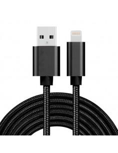 3 méteres USB kábel iPhone X/8/8 Plus/7/7 Plus/6/6s/6 Plus/6s Plus/iPad/5/5s/SE - FEKETE