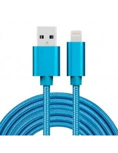 3 méteres USB kábel iPhone X/8/8 Plus/7/7 Plus/6/6s/6 Plus/6s Plus/iPad/5/5s/SE - KÉK