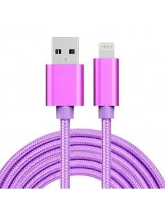 3 méteres USB kábel iPhone X/8/8 Plus/7/7 Plus/6/6s/6 Plus/6s Plus/iPad/5/5s/SE - LILA