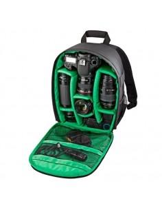 INDEPMAN DL-B012 fotós hátizsák GoPro, SJCAM, Nikon, Canon, Xiaomi Xiaoyi YI, Méret: 27.5 * 12.5 * 34 cm - ZÖLD