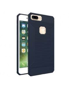 Apple iPhone 8 Plus / 7 Plus karbon mintás tok - KÉK