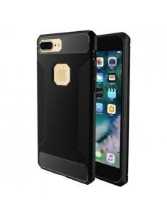 Apple iPhone 8 Plus / 7 Plus karbon mintás telefontok - FEKETE