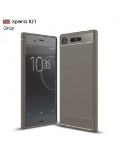 Sony Xperia XZ1 karbon mintás tok - SZÜRKE