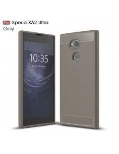 Sony Xperia XA2 Ultra karbon mintás tok - SZÜRKE
