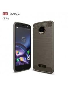 Motorola Moto Z karbon mintás tok - SZÜRKE