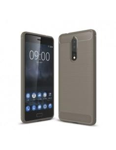 Nokia 8 karbon mintás tok - SZÜRKE