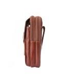 Univerzális 3 rekeszes övre fűzhető bőrtok maximum 6.3 inches készülékekhez - BARNA