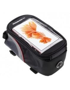 Kerékpárra rögzíthető telefontok 8.5x16 cm-es telefonokhoz - PIROS/FEKETE