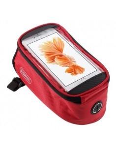 Kerékpárra rögzíthető telefontok 8.5x16 cm-es telefonokhoz - PIROS
