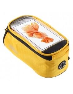 Kerékpárra rögzíthető telefontok 8.5x16 cm-es telefonokhoz - SÁRGA