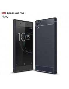 Sony Xperia XA1 Plus karbon mintás tok - KÉK