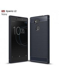 Sony Xperia L2 karbon mintás tok - KÉK