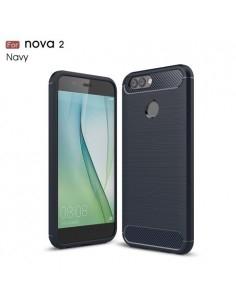 Huawei Nova 2 karbon mintás tok - KÉK