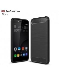 Asus Zenfone Live ZB501KL karbon mintás tok - FEKETE