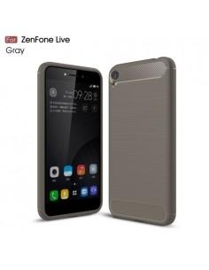 Asus Zenfone Live ZB501KL karbon mintás tok - SZÜRKE