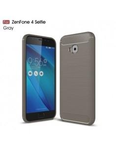Asus Zenfone 4 Selfie Pro ZD552KL karbon mintás tok - SZÜRKE