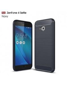 Asus Zenfone 4 Selfie Pro ZD552KL karbon mintás tok - KÉK