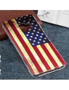 IMD mintás rugalmas TPU tok Samsung Galaxy S9 készülékhez - AMERIKAI ZÁSZLÓS