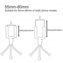 HAWEEL tripod - három lábú telefon állvány - FEKETE