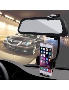 HAWEEL univerzális visszapillantóra rögzíthető telefon tartó 4-8 cm széles készülékekhez - FEKETE