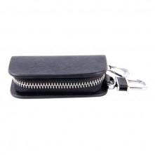 Univerzális övre csatolható cipzáras kulcstartó táska - FEKETE