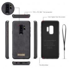 CaseMe notesztok Samsung Galaxy S9 Plus telefonhoz - FEKETE