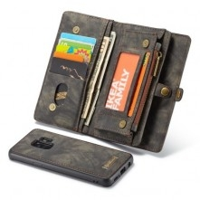 CaseMe 2 az 1-ben mappa tok Samsung Galaxy S9 telefonhoz - FEKETE