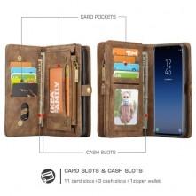 CaseMe 2 az 1-ben mappa tok Samsung Galaxy S9 telefonhoz - BARNA