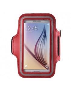 Karra csatolható piros rugalmas anyagú telefontok sportoláshoz - 7,5*14 cm - PIROS