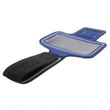 Karra csatolható kék rugalmas anyagú telefontok sportoláshoz - 7,5*14 cm - KÉK