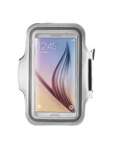 Karra csatolható rugalmas anyagú telefontok sportoláshoz - 7,5*14 cm - FEHÉR