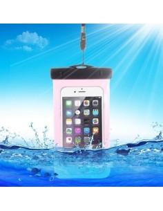 Vízálló mobiltelefon tartó 16.3 x 9 cm készülékekhez - PINK