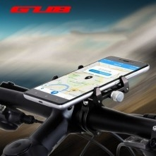 G-85 univerzális kormányra rögzíthető masszív aluminium telefontartó 67-100 mm széles készülékekhez - FEKETE