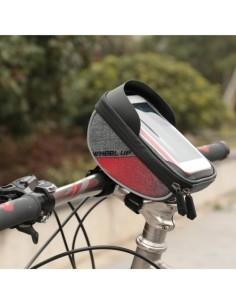 WHEEL UP kerékpár kormányra rögzíthető tok 16x9 cm - FEKETE