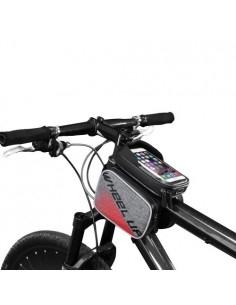 WHEEL UP kerékpár vázra rögzíthető 3 rekeszes tok 19x15 cm - FEKETE